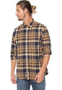 Camisa Timberland Reta Parker Amarela/Azul