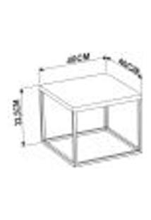 Mesa De Centro Ou Lateral Cube P Preto Marquina Milani Store