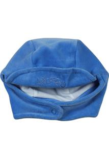 Enxoval Baby Ano Zero Touca Plush Azul - Tricae