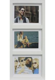 Painel De Fotos Fine 22X42 2 Fotos 10X15 E 1 Foto 13X18 Branco Kapos