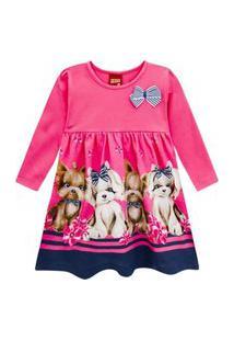 Vestido Kyly Manga Longa Floral Feminino Multicolorido
