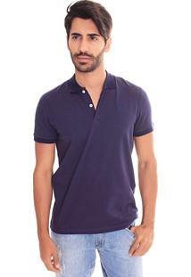 Camiseta Polo Convicto Basica Cotton Marinho