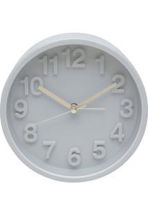 Relógio Despertador Fine Marble Cinza 13X5X13 Cm Urban