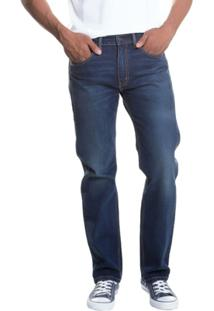 Calça Jeans Levis Man 505 Regular Escura - Masculino-Azul