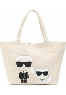 Karl Lagerfeld Bolsa Tote K/Ikonik Karl & Choupette - Neutro