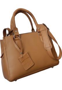 Bolsa Line Store Clã¡Ssica Couro Savannah Premium. - Marrom - Feminino - Dafiti