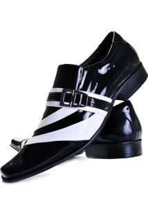 Sapato Social Gofer 632 Preto E Branco
