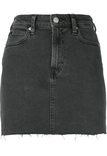 2e7d4d19a1 Calvin Klein Jeans Saia Jeans Slim - Preto