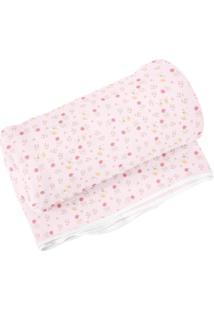 Cobertor Estampado- Rosa Claro & Rosa- 70X90Cm- Papi