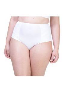 Calcinha Hot Pant Lateral Dupla Renda Branco - 534.383 Marcyn Lingerie Alta Branco