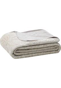 Cobertor Blenda Fashion De Solteiro- Bege & Cinza Claro