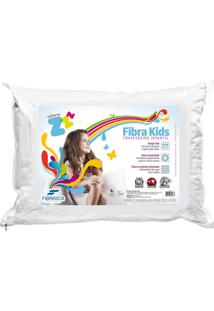 Travesseiro Fibrasca Fibra Lavã¡Vel Kids BrancoâPara Fronhas 50X70Cm - Branco - Dafiti