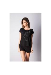 T-Shirt Bana Bana Com Estampa De Signo