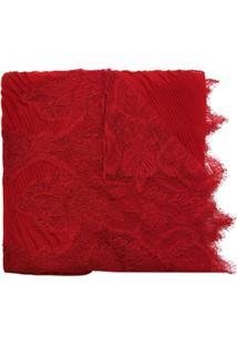 Valentino Lenço Cashmere - Vermelho