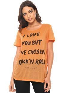 Camiseta Colcci Rock Laranja