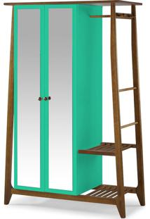 Armário Multiuso 2 Portas Stoka 982 Nogal/Verde Anis - Maxima