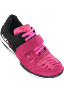 Tenis Para Crossfit E Lpo Em Couro Pink E Preto - Feminino