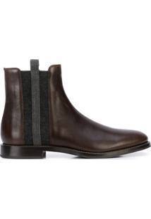 Brunello Cucinelli Ankle Boot Flat - Marrom