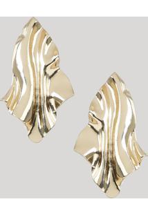 Brinco Feminino Mindset Texturizado Dourado