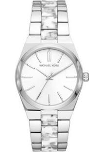 Relógio Michael Kors Channing Mk6649/1Kn Feminino - Feminino-Prata