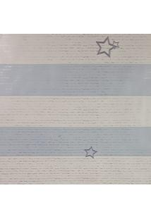 Papel De Parede Para Menino Listras Azul E Branco - Kanui