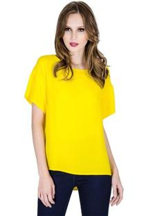 Blusa Básica Colcci Feminino - Feminino-Amarelo