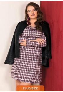 Vestido Curto Cabernet Vintage Cool Lisamour