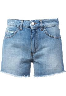 Alexa Chung Short Jeans - Azul