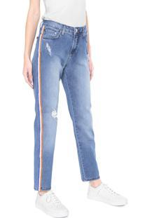Calça Jeans Calvin Klein Jeans Boyfriend Azul