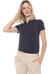 Camisa Polo Dudalina Lisa Grafite