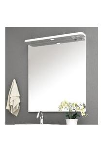 Espelheira Para Banheiro 80Cm Bosi Cora Tomada Luminária Led Branca
