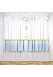 Cortina Quarto Beb㪠Azul E Amarelo 1,80M Grã£O De Gente Amarelo - Amarelo - Dafiti
