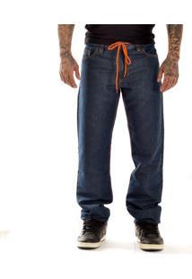 Calça New Skate Jeans Reta Nekkar Multicolorido