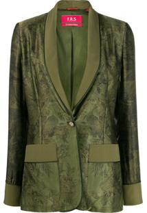 F.R.S For Restless Sleepers Blazer Com Estampa Floral - Verde