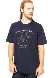 Camiseta Manga Curta West Coast Volcan Azul-Marinho