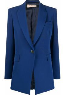 Blanca Vita Blazer Com Abotoamento Simples - Azul