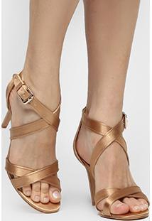 Sandália Shoestock Festa Glitter - Feminino-Dourado