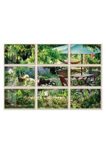 Quadro 120X180Cm Painel Jardim Luxuoso Moldura Natural Sem Vidro