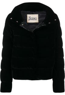 Herno High Collar Puffer Jacket - Preto