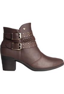 Bota Feminina Ankle Boot Mississipi Murgon Marrom - 34
