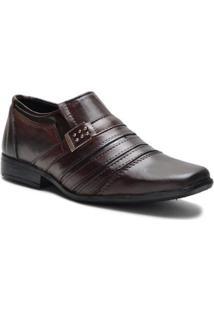 Sapato Social Masculino Monaco Com Costura Superior - Masculino-Marrom