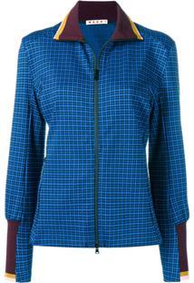 Marni Blusa De Moletom Com Estampa Geométrica - Azul