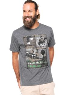 Camiseta Wrangler Estampada Cinza