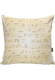 Capa Para Almofada Egypt- Bege Claro & Off White- 45Stm Home