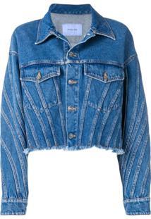 Mugler Jaqueta Jeans Oversized - Azul