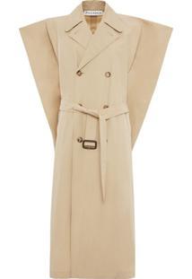Jw Anderson Trench Coat Clássico - Neutro