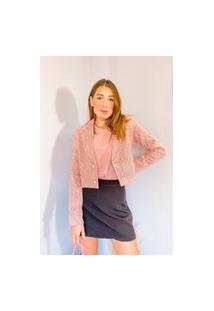 Blazer Vanibele Tweed Rosa