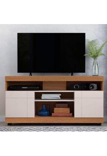 Rack Bancada Para Tv Até 50 Polegadas 2 Portas Yara Colibri Natura Real/Off White