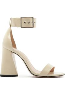 Sandália Salto Cone Gloss White | Schutz
