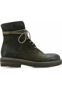 Marsèll Ankle Boot Com Cadarço - Verde